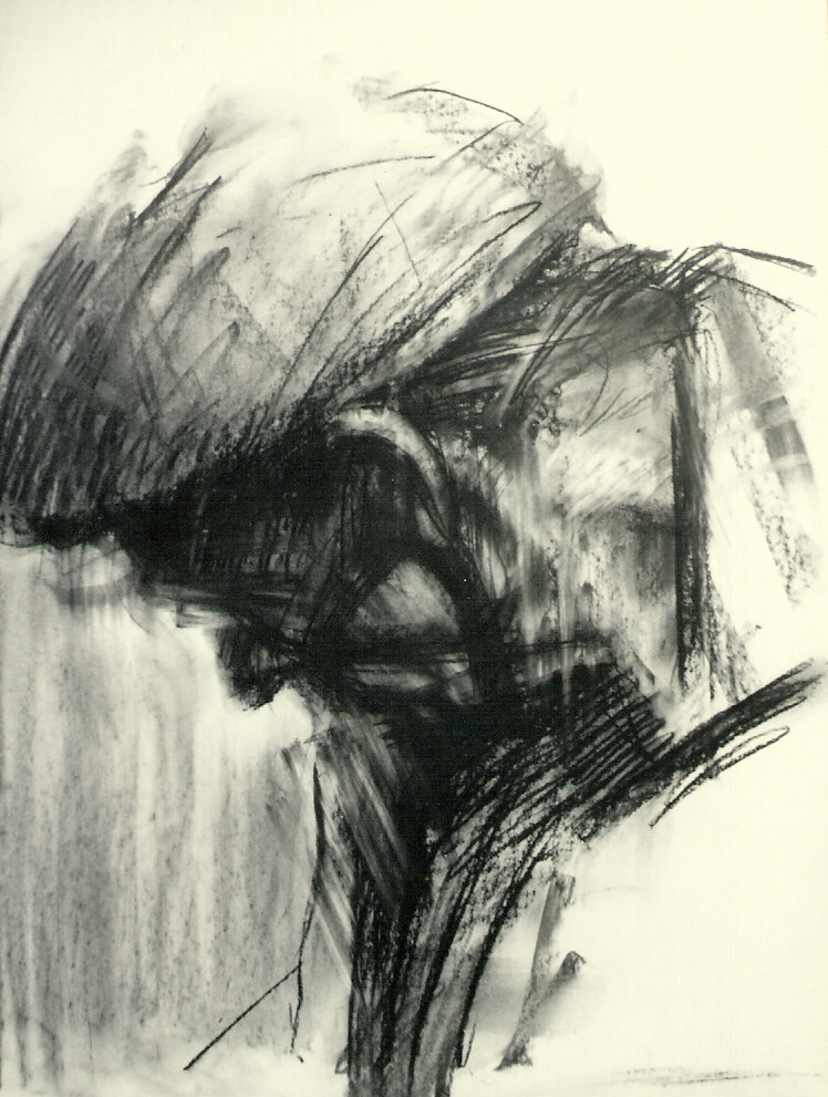 Glasgow Man Charcoal ivory paper